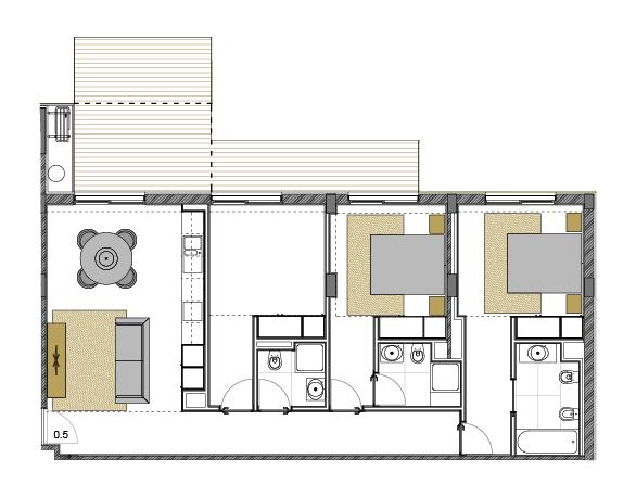 Apartamento 0.5