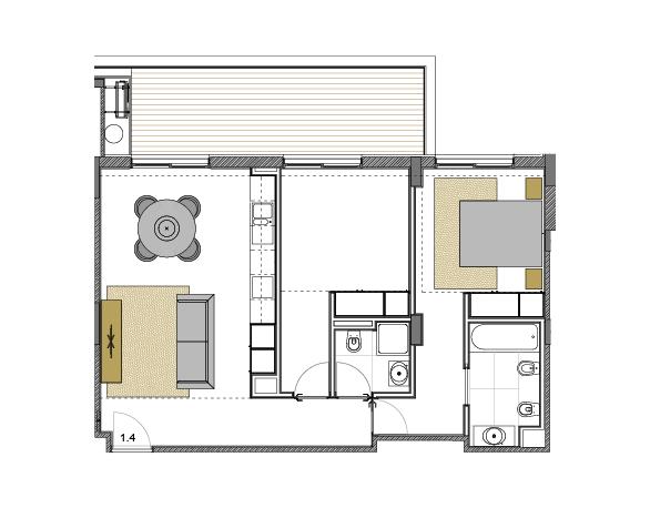 Apartment 1.4