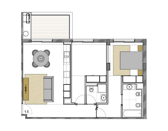 Apartamento 1.5
