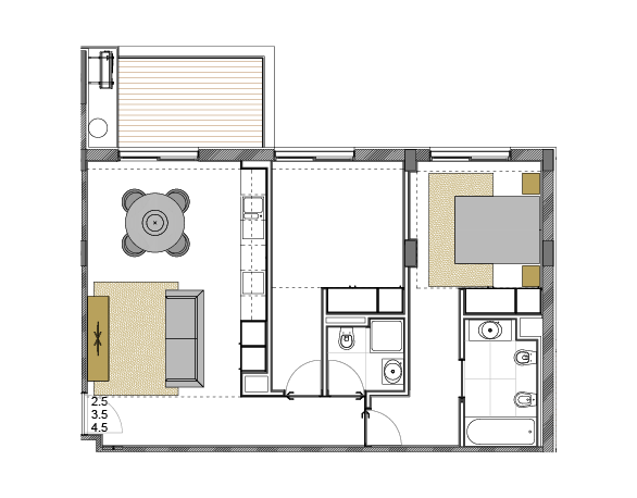 Apartamento 2.5